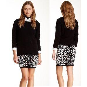 A.L.C Ellwood Leopard Print Knit Mini Skirt